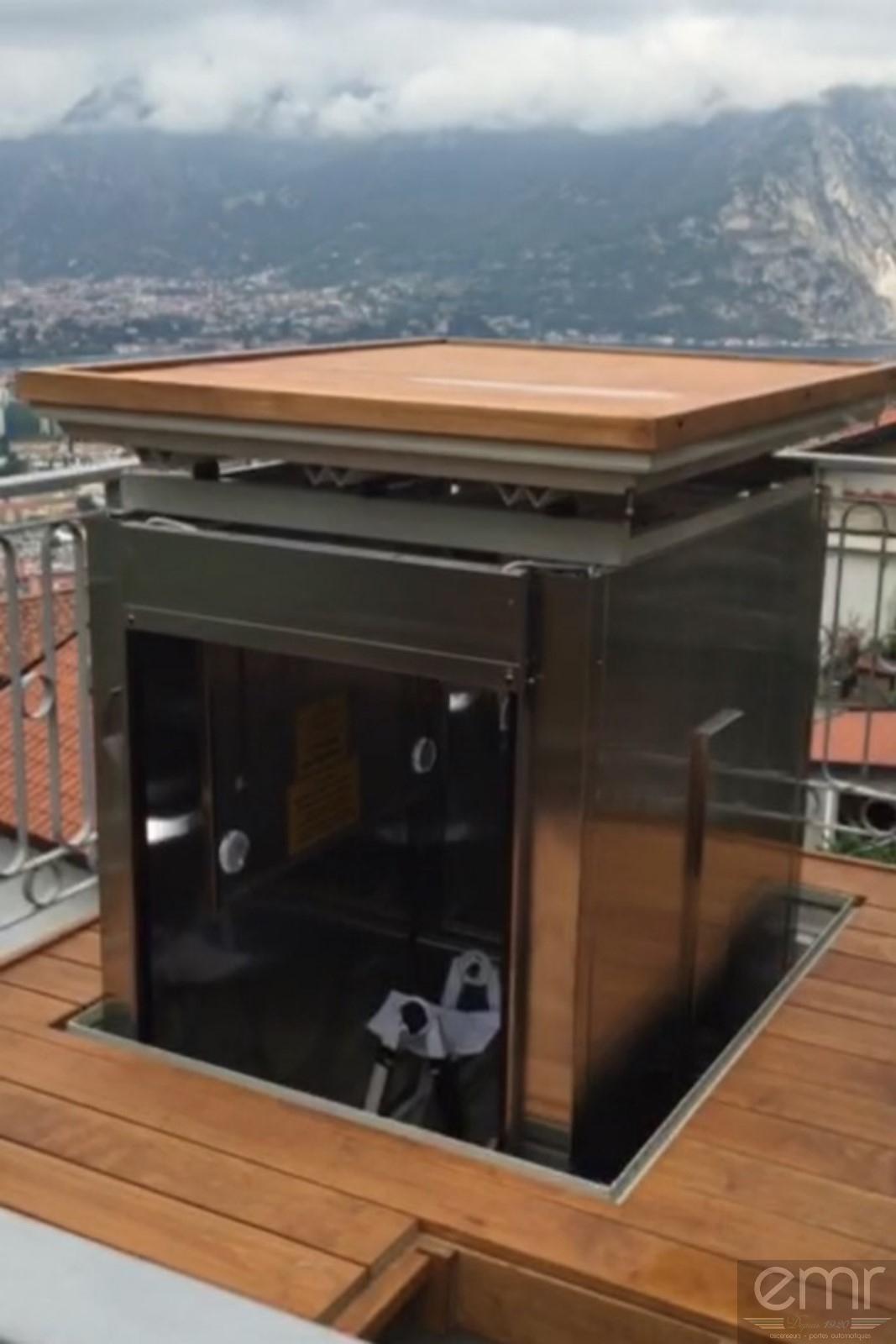 Création D'un Ascenseur Sans Édicule Sur Un Toit Terrasse ... dedans Acces Toit Terrasse