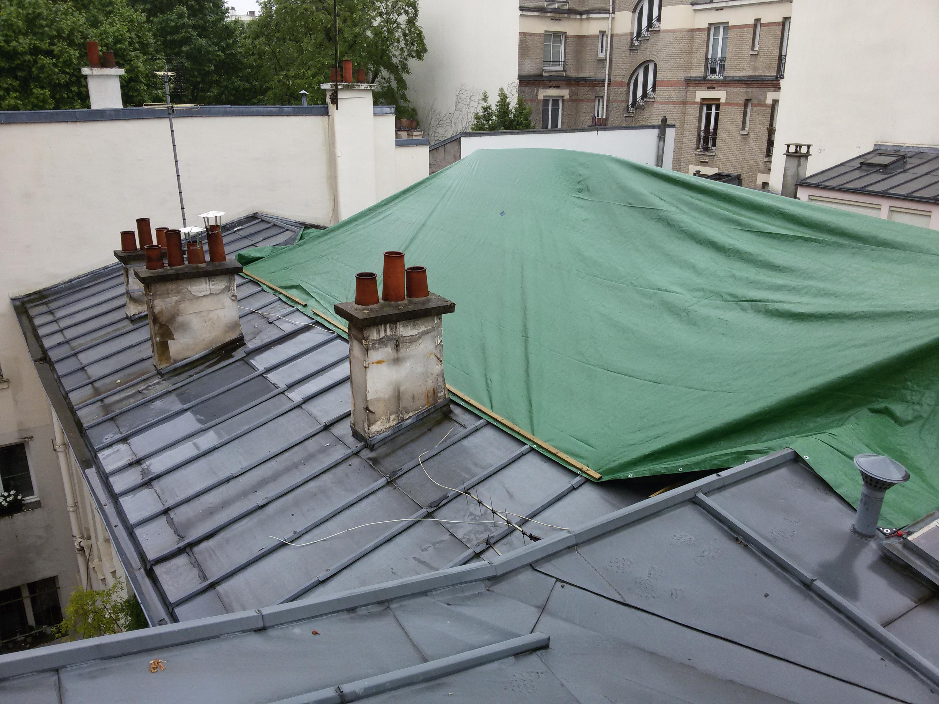 Création D'une Terrasse Sur Le Toit D'un Immeuble Parisien ... tout Acces Toit Terrasse