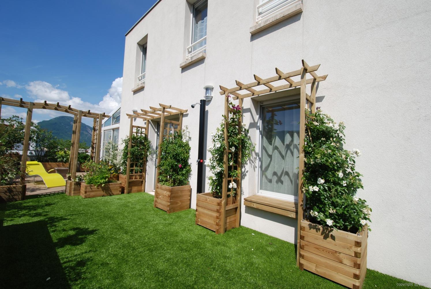 Création Et Aménagement De Terrasses à Amenager Jardin Rectangulaire