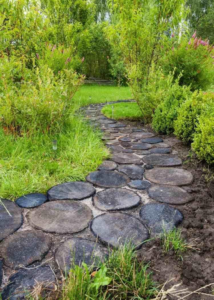 Créer Une Allée Originale – 16 Idées Pour Sublimer Le Jardin ... avec Allee De Jardin