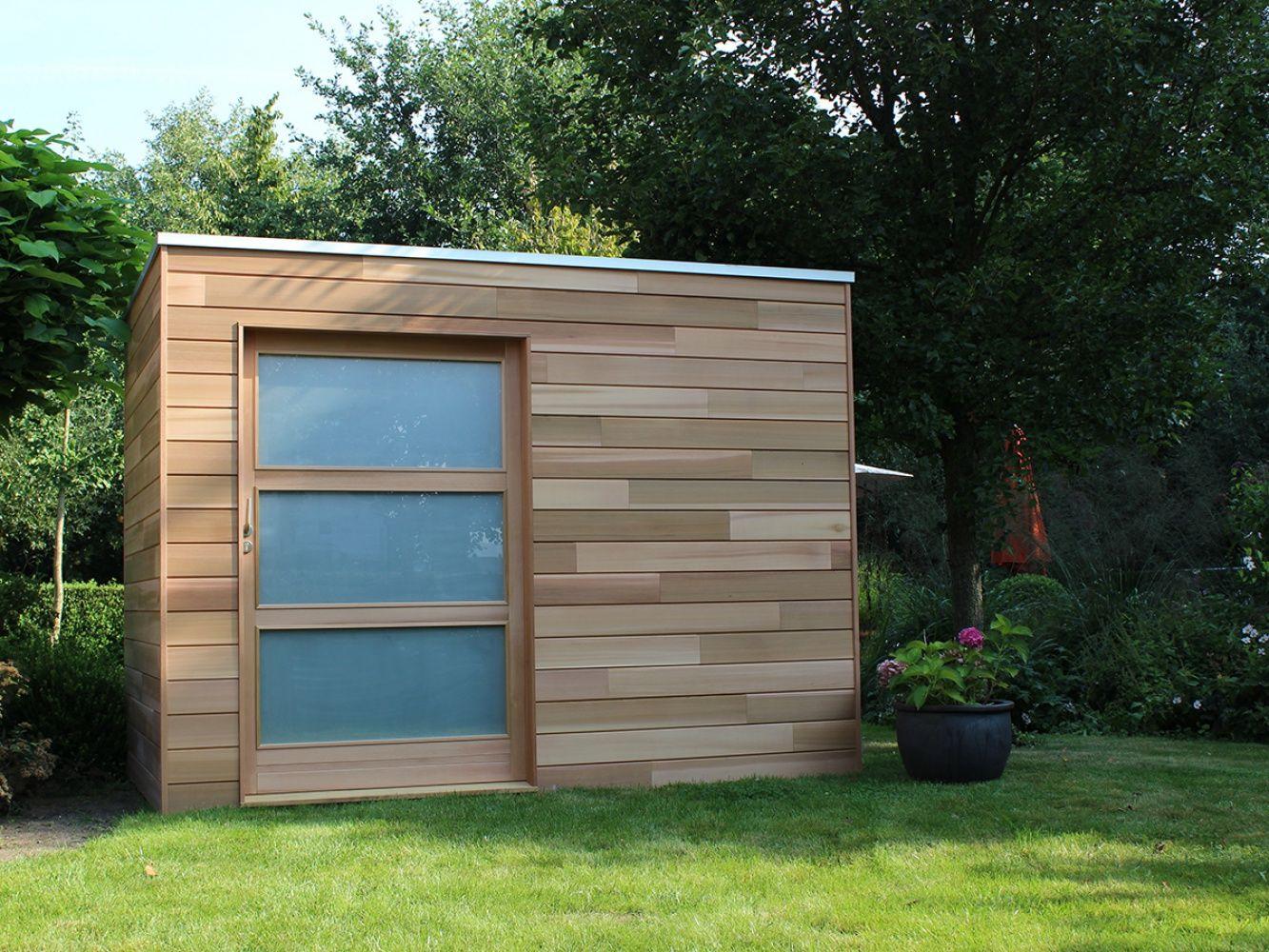 Cubeco Modern Houten Tuinhuis | Abri De Jardin, Jardin ... dedans Abri De Jardin Contemporain