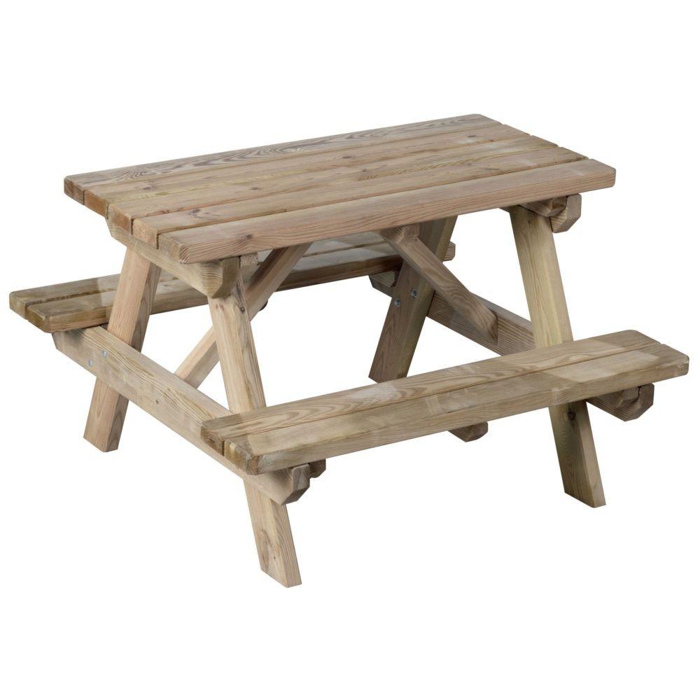 De Enfant Nique Palettelxlxh90 Pique X Bois Sur Table Livré ... dedans Table Jardin Bois