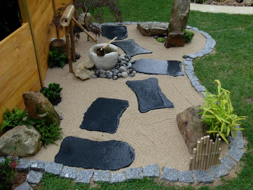 Déco Mini Jardin Zen | Jardin Japonais, Idee Deco Jardin concernant Modele De Jardin Japonais