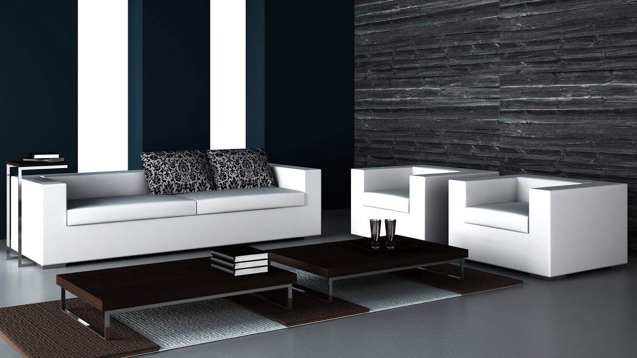 Decoration De Salon Blanc Et Noir - concernant Salon Gris Et Blanc