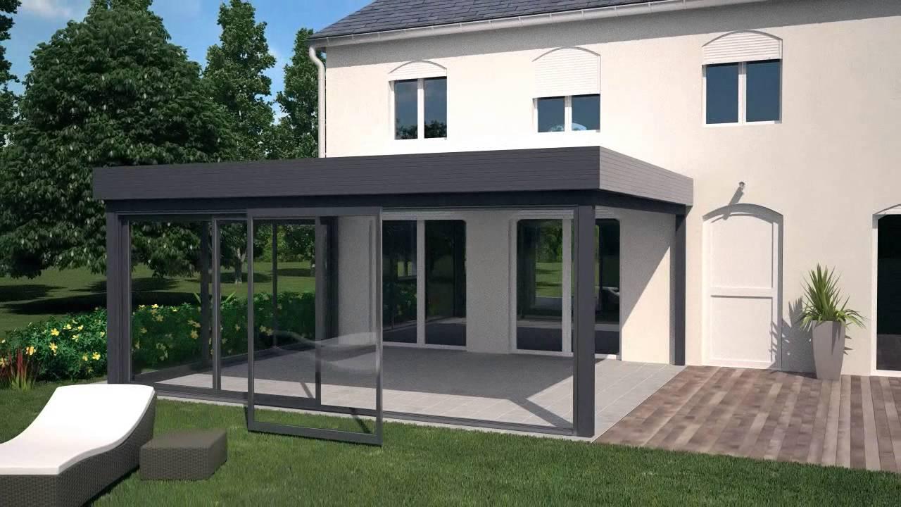 Delt'alu Présente Les Vérandas Avec Toiture À Plat D'akraplast à Toit Terrasse Aluminium
