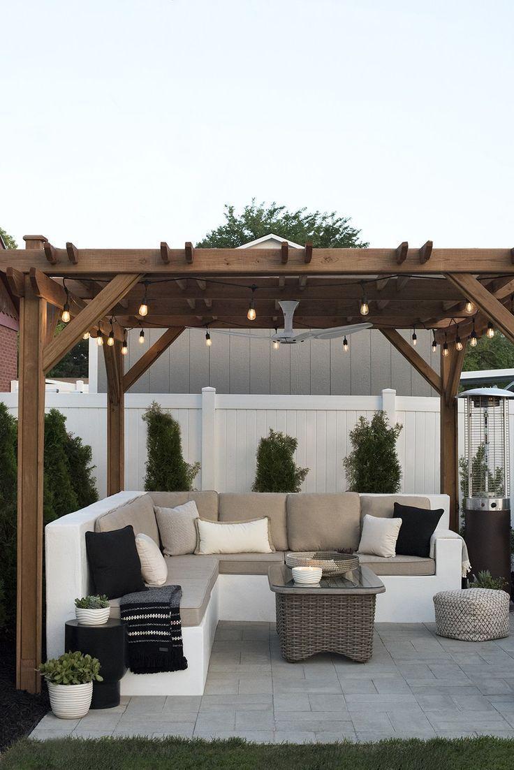 Der Hinterhof: Ein Jahr Später – Roomfortuesday ... dedans Abri Jardin Design