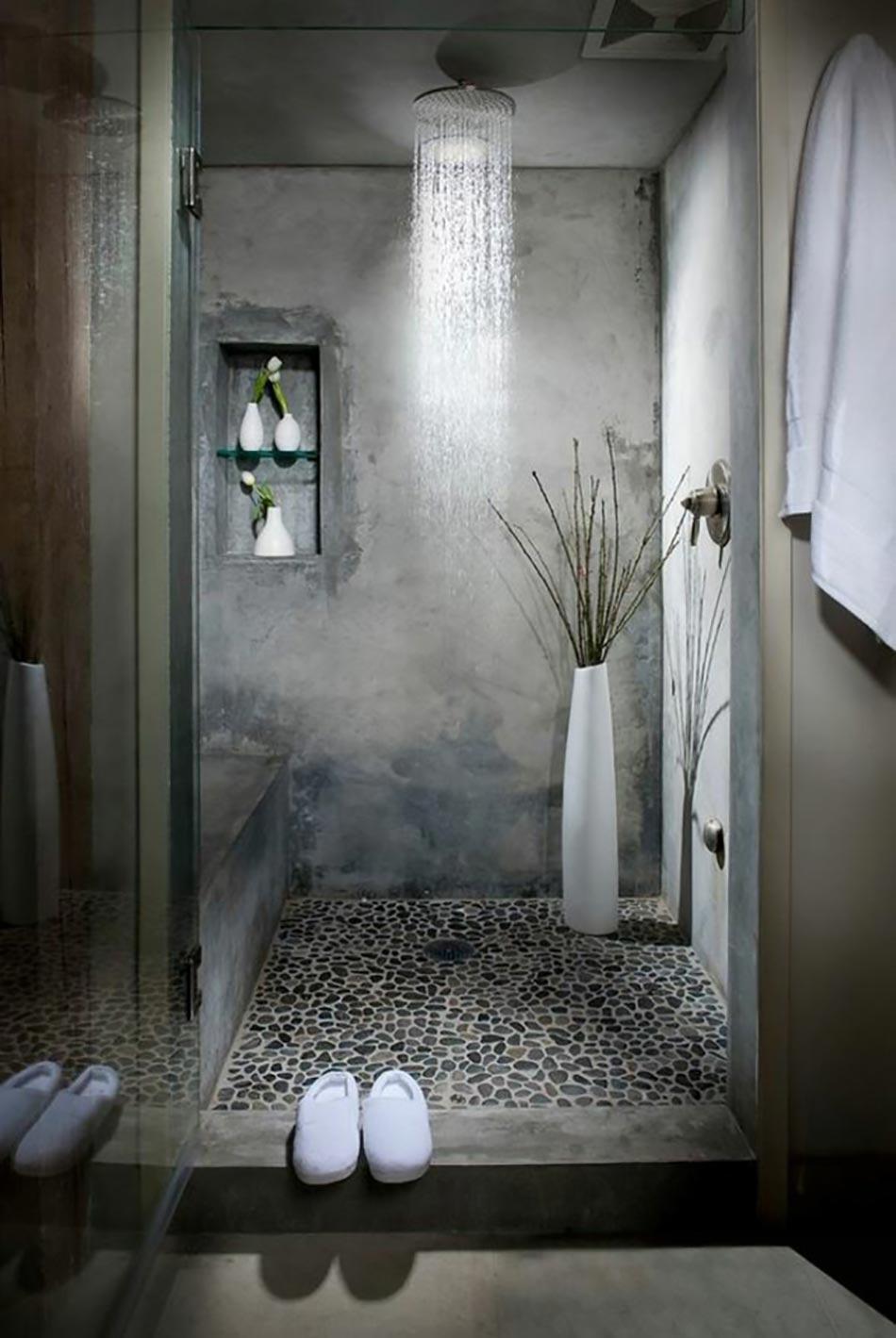 Des Teintes Sombres Pour Une Salle De Bain Moderne | Design ... pour Salle De Bain Moderne Grise
