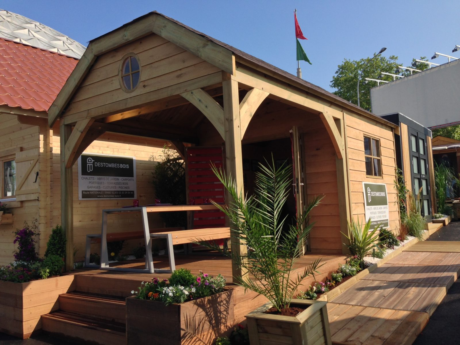 Destombes Bois   Abri De Jardin Bois - Garage - Carport ... pour Abri Terrasse Bois