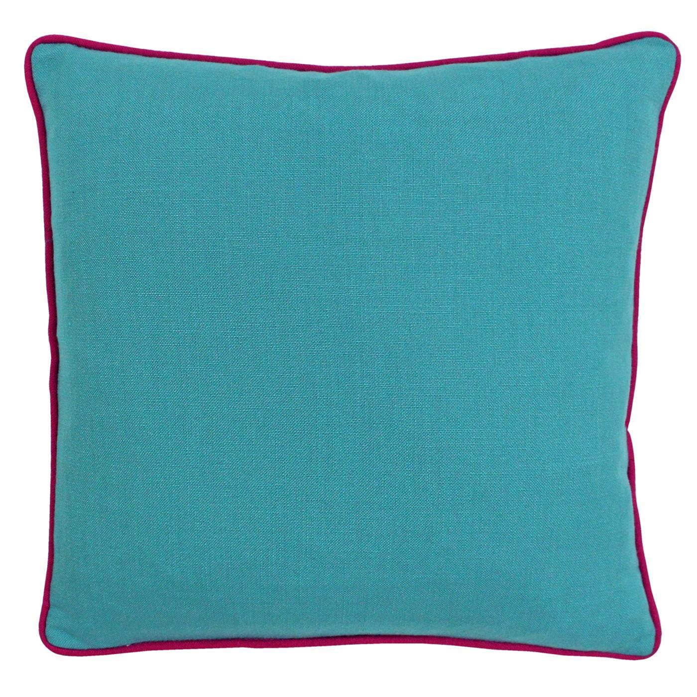 Détails Sur Brillant Tissé Épais Ambiance Canard Œuf Aqua Bleu Coussin  Housse pour Coussin Bleu Turquoise