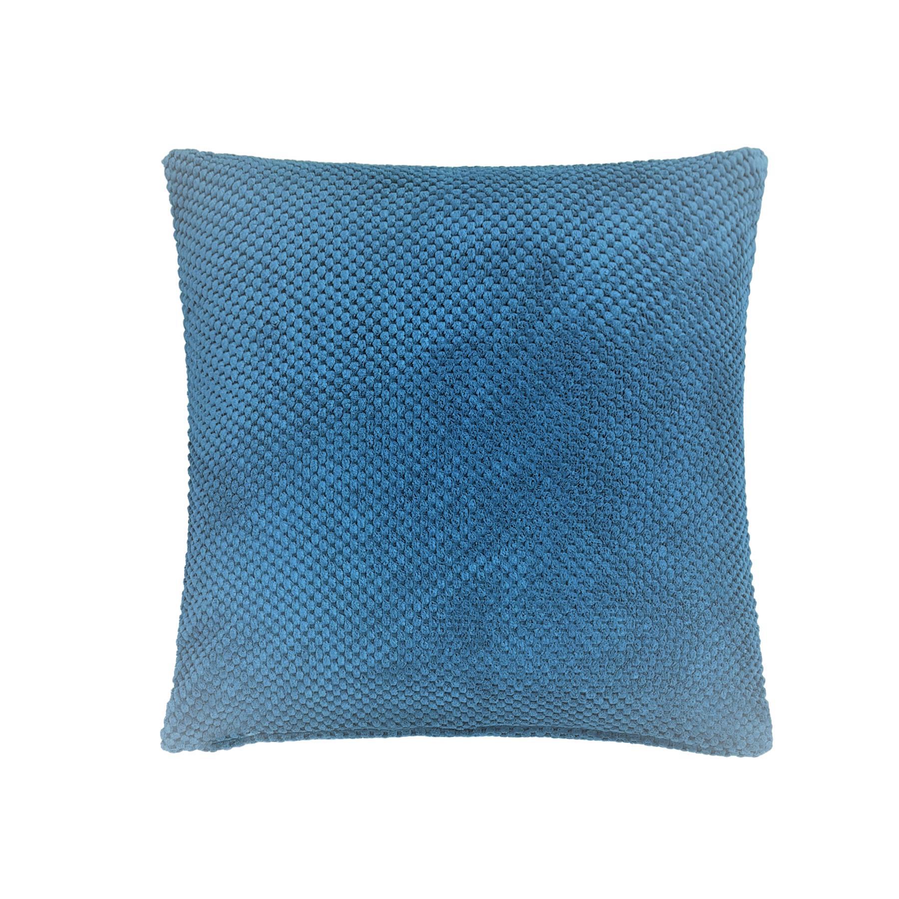 Détails Sur Épais Chenille Point Bleu Sarcelle Coussin Housse 43.2Cm - 43Cm concernant Coussin Bleu Turquoise
