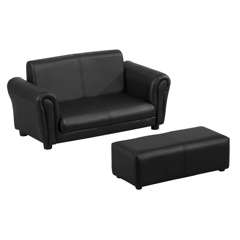 Détails Sur Homcom Canapé 2 Places/fauteuil/sofa Pour Enfant Avec  Repose-Pied Elégant tout Canape Avec Repose Pied