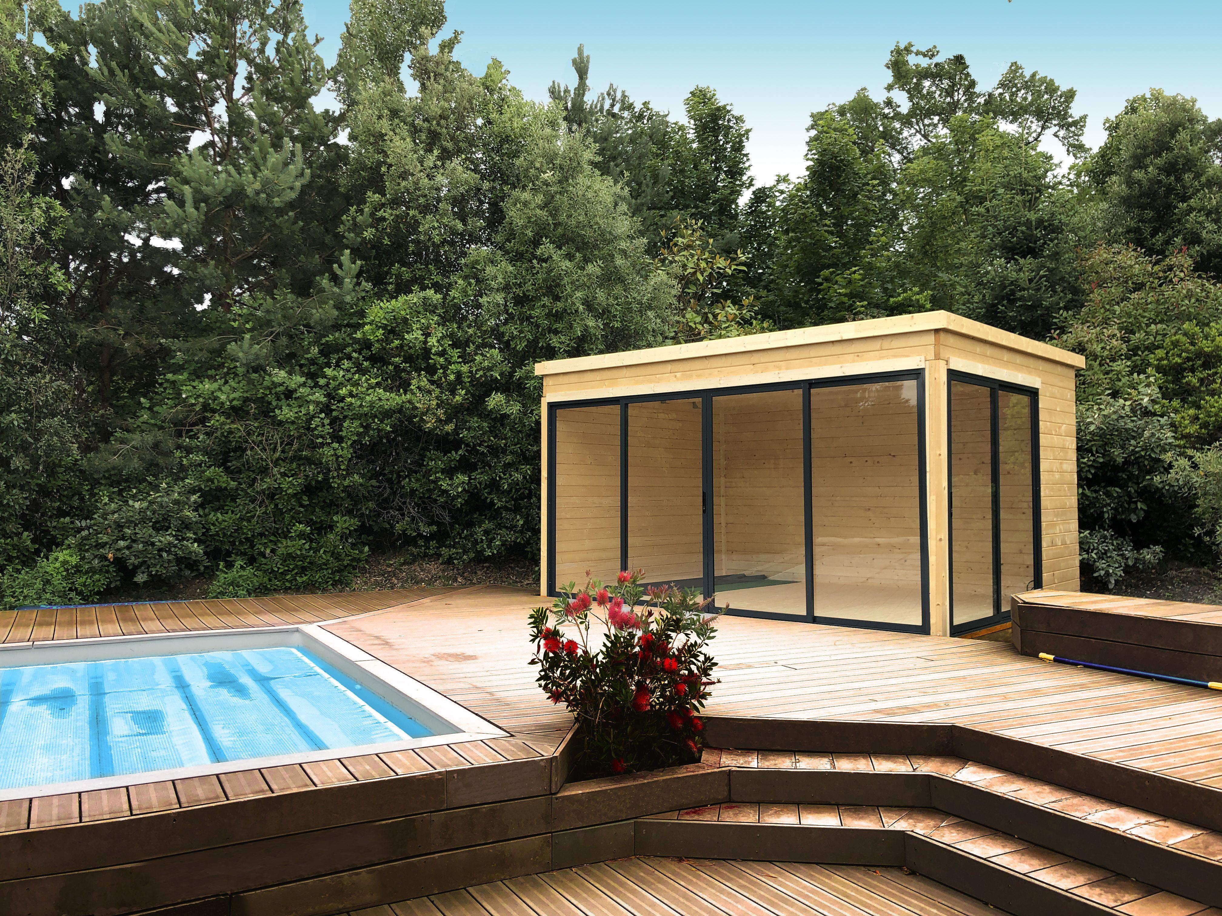 Direct Abris Bureau De Jardin Argos 4 - 12M2 | Bureau De ... dedans Abri De Jardin 12M2