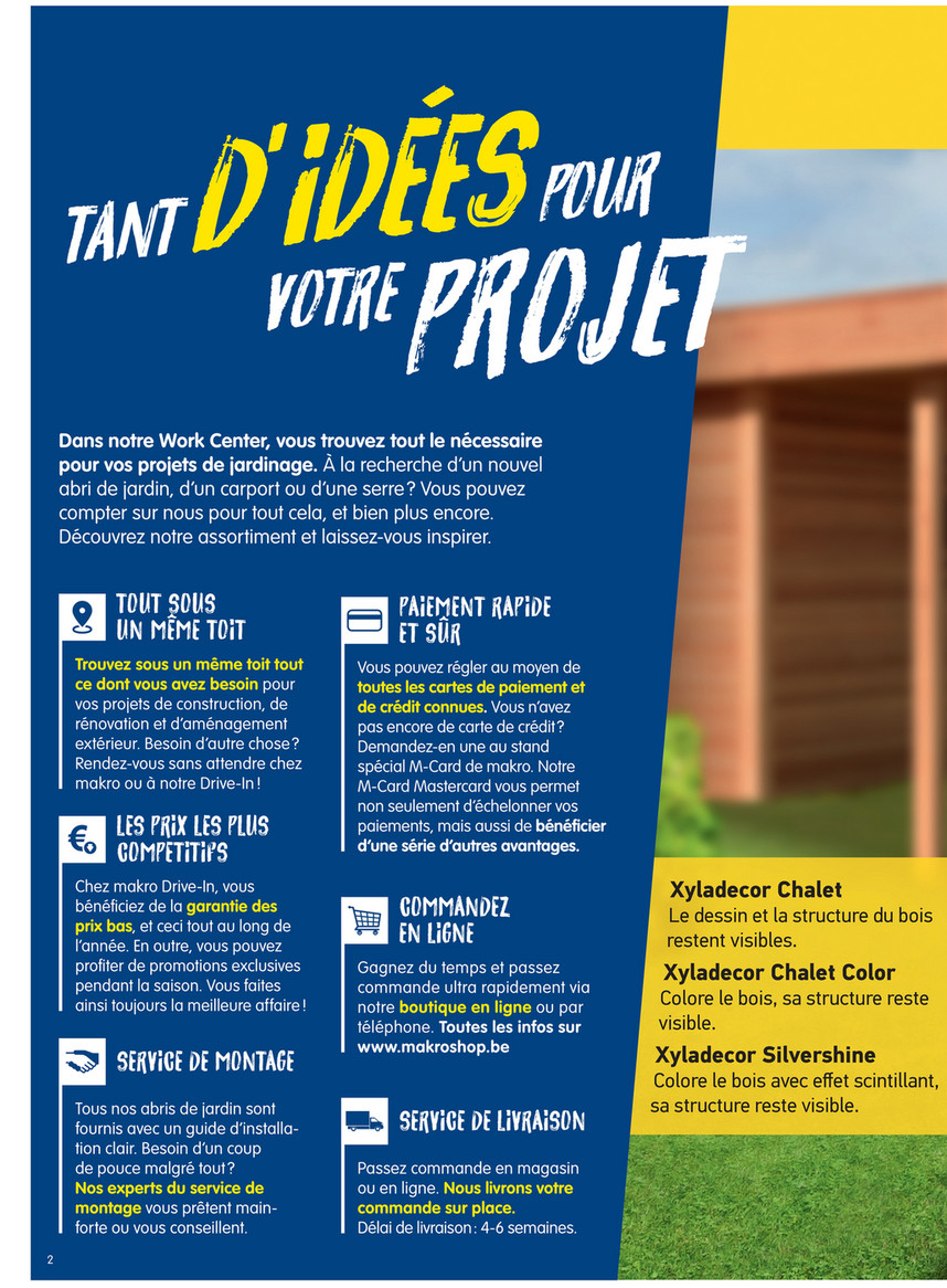 Diy-Garden - Makro-Belgique-Fr-Abris-De-Jardin-2019 - Page 4 ... à Abri Jardin Design