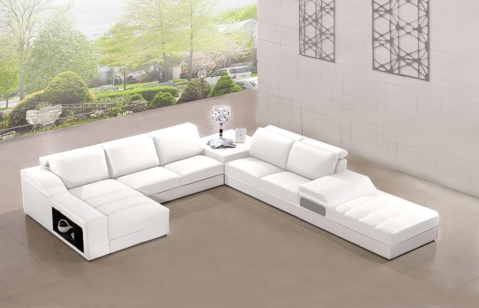 Elegancia Blanc concernant Canape Cuir Blanc