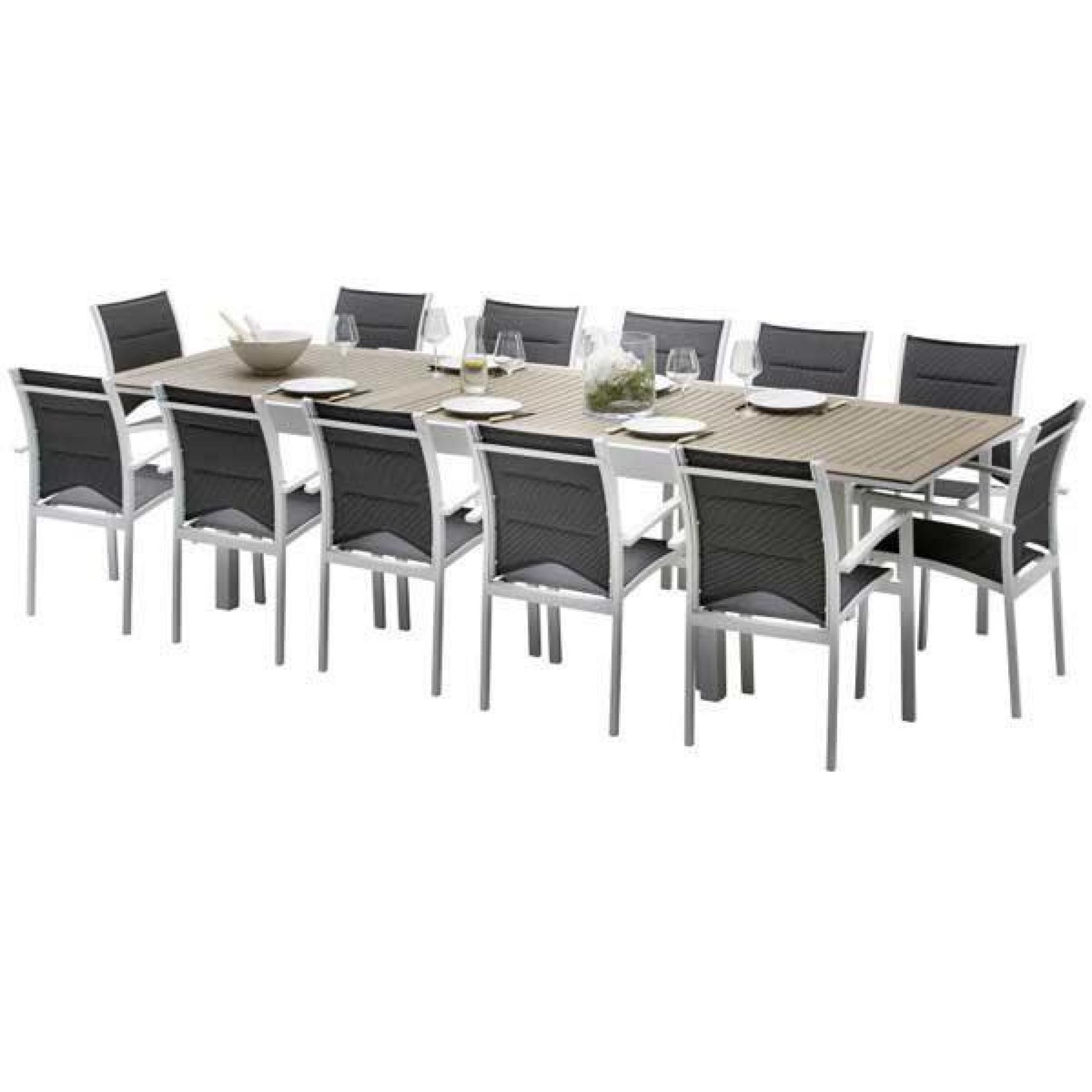 Ensemble De Table Et Chaises De Jardin Lattées Polywood Modulo 10 Places  Polywood serapportantà Table Et Chaises De Jardin Pas Cher