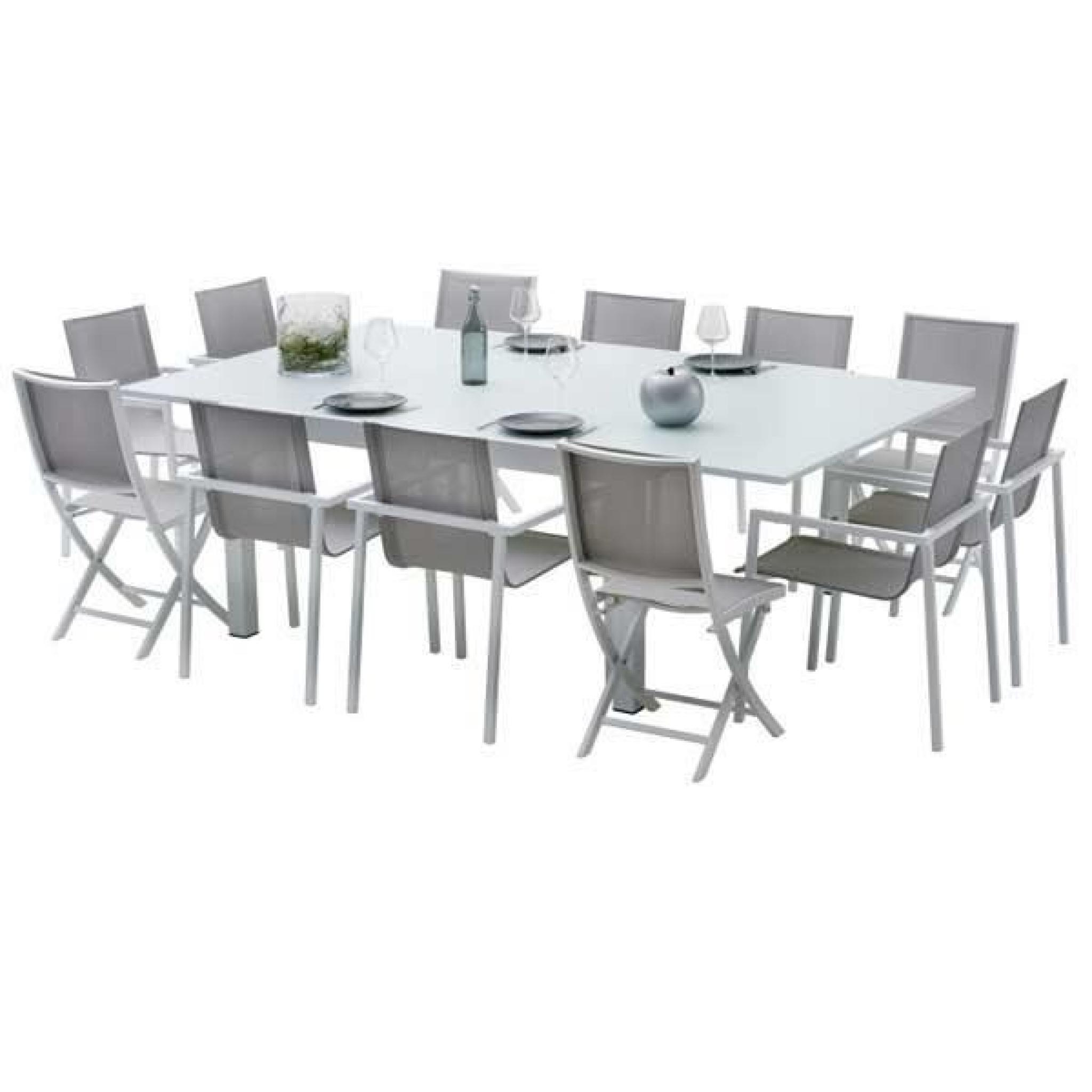 Ensemble Table Et Chaises De Jardin Extensibles Carre Whitestar 8 Places encequiconcerne Table Et Chaises De Jardin Pas Cher