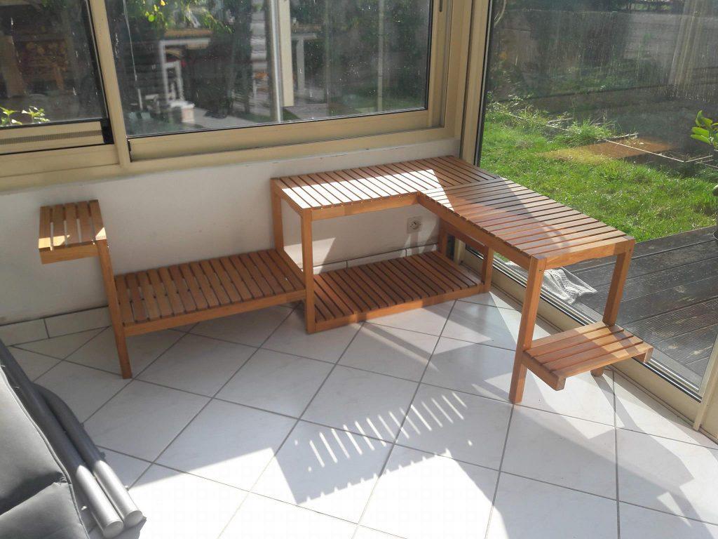 Etagère À Plantes Avec Molger concernant Banc De Jardin Ikea