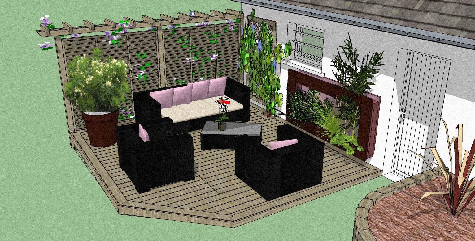 Etudes Création Et Aménagement De Parcs Et Jardin Sur La ... tout Amenagement De Terrasse