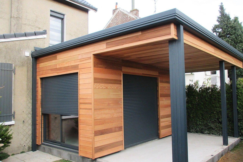 Extension Garage Bois Toit Plat Prix Terrasse Beton 30M2 ... destiné Pergola Toit Plat