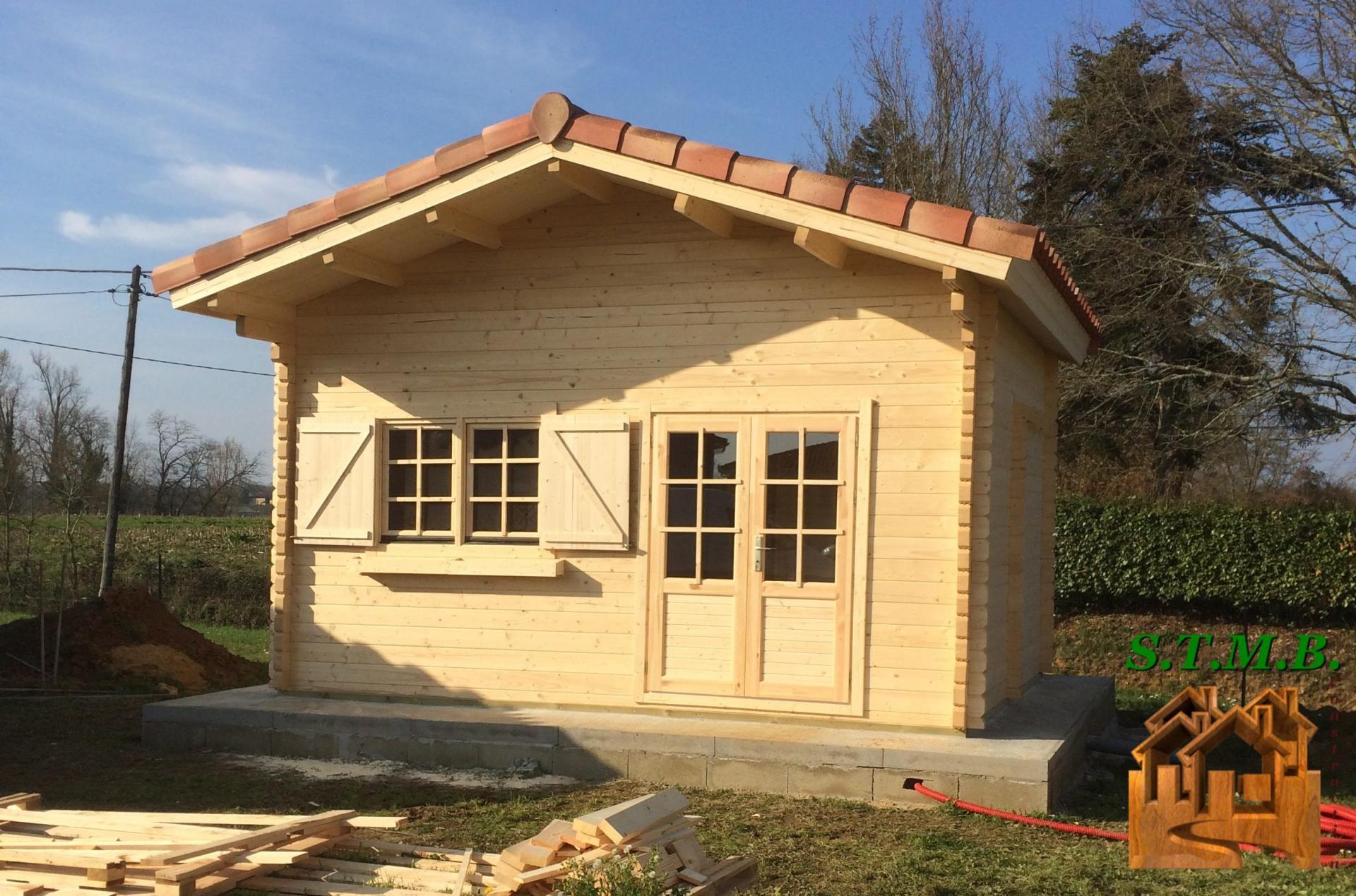 Fabricant Constructeur De Kits Chalets En Bois Habitables - Stmb intérieur Abri De Jardin 30M2