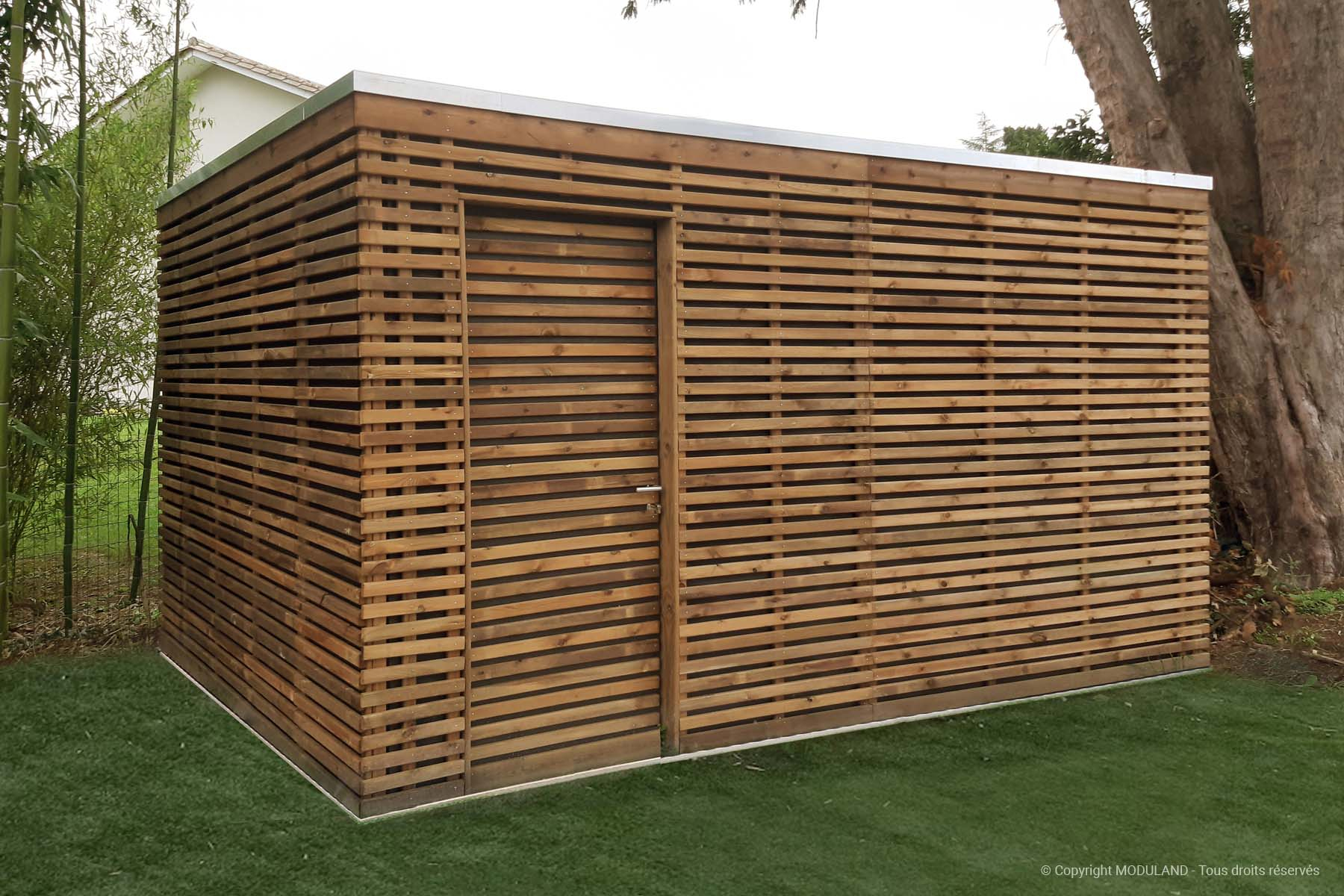 Fabricant D'abris Et Structures Bois Sur Mesure | Moduland destiné Abri Jardin Sur Mesure