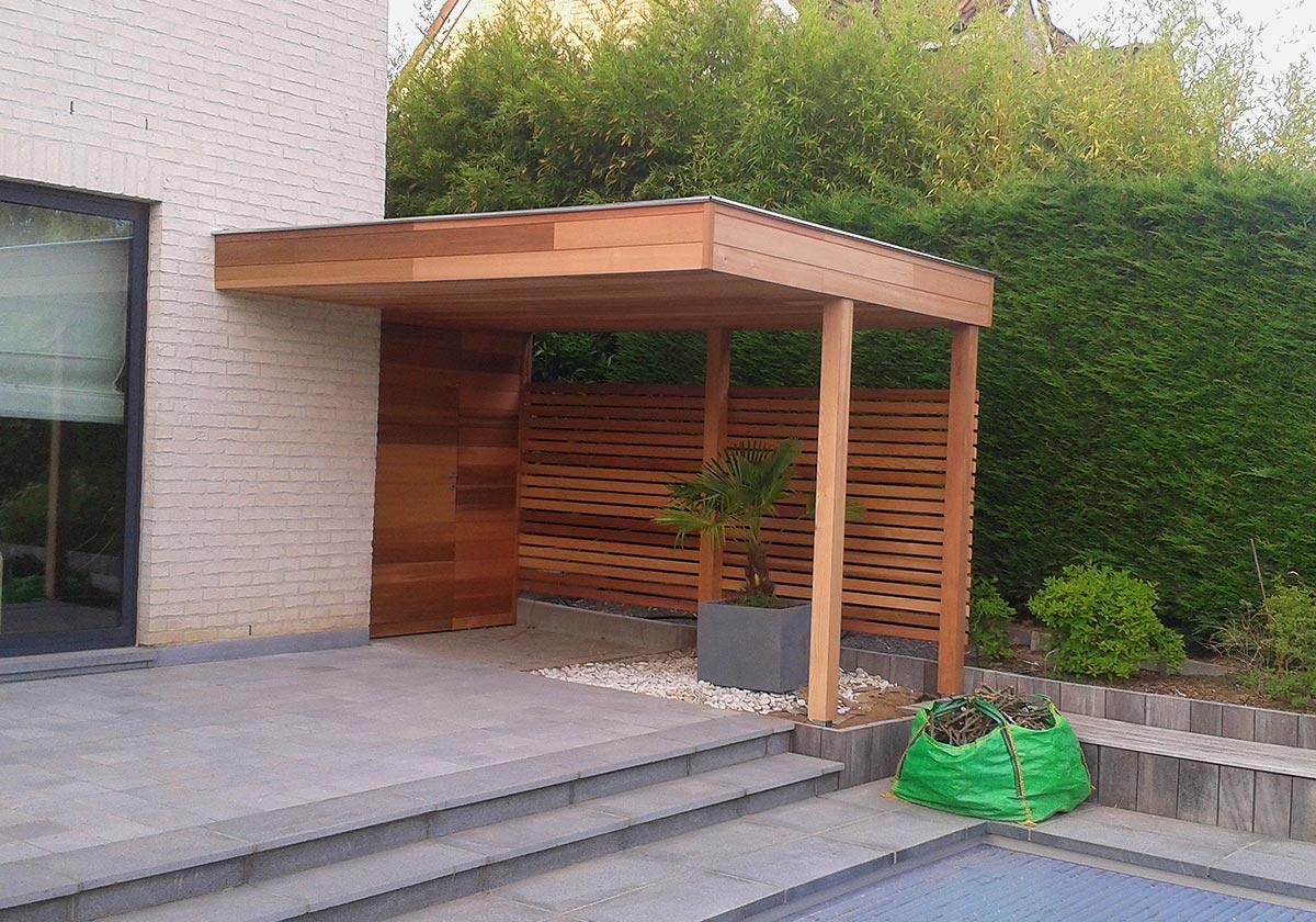Fabrication D'abri De Jardin Sur Mesure Dans Le Brabant Wallon encequiconcerne Abri De Terrasse En Bois
