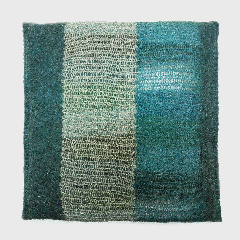 Felt Cushion, Square, Blue Green tout Coussin Bleu Vert