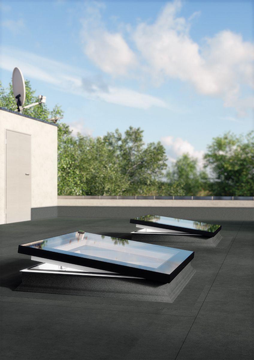 Fenêtres Pour Toits Plats Type F - Fakro à Acces Toit Terrasse