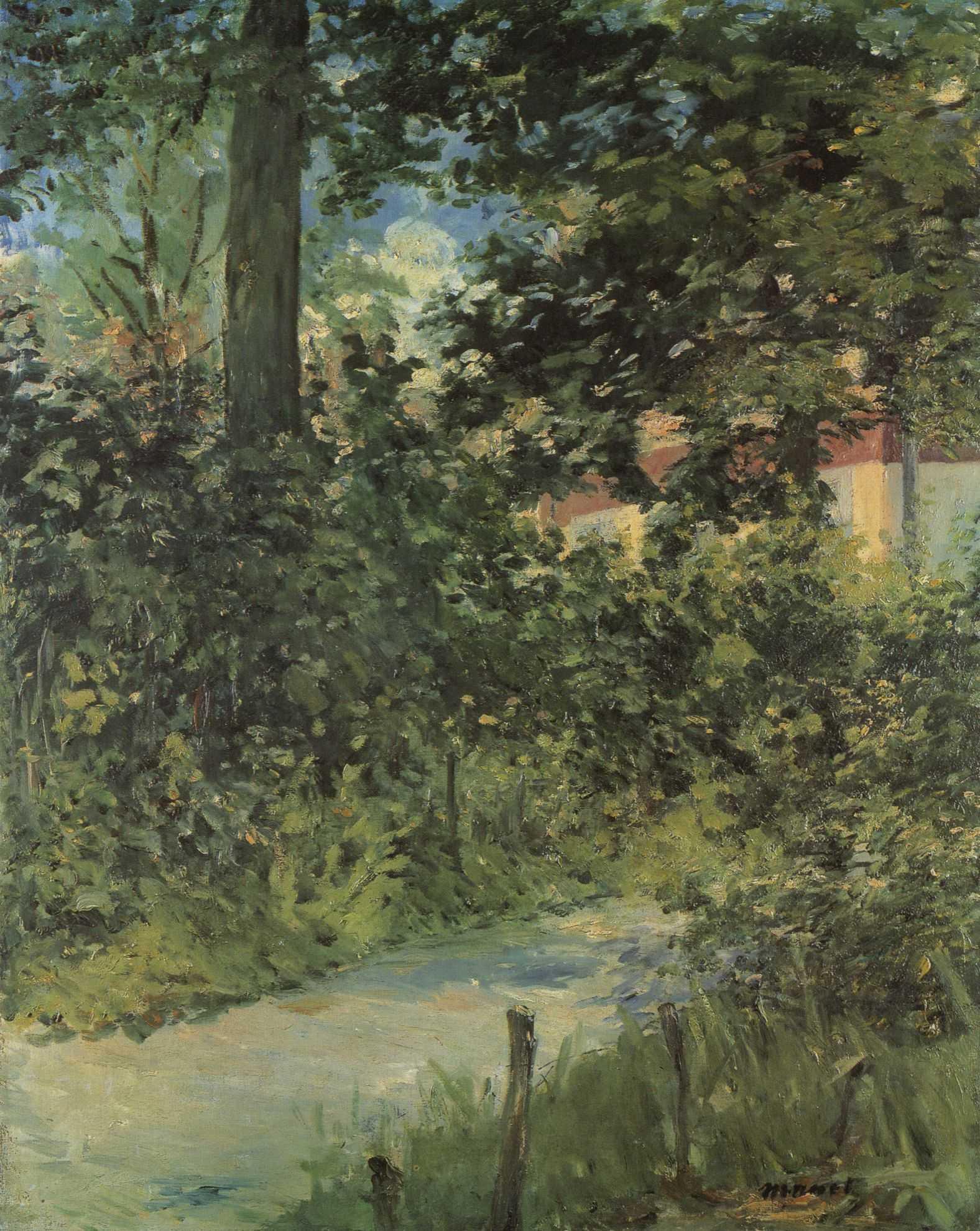 File:édouard Manet - Une Allée De Jardin De Rueil (Rw 402 ... à Allee De Jardin