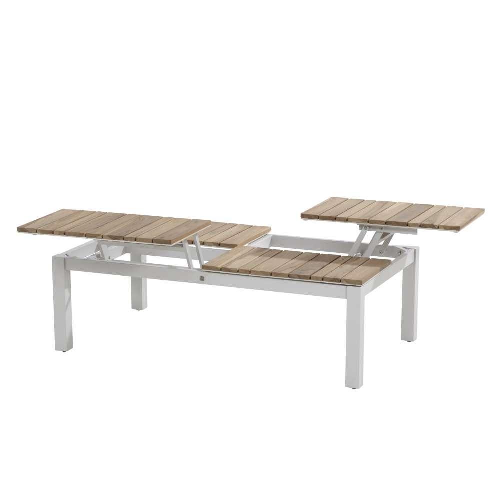 Forio Coffee Table 120X70Cm With An Adjustable Teak Table Top tout Table De Jardin En Aluminium