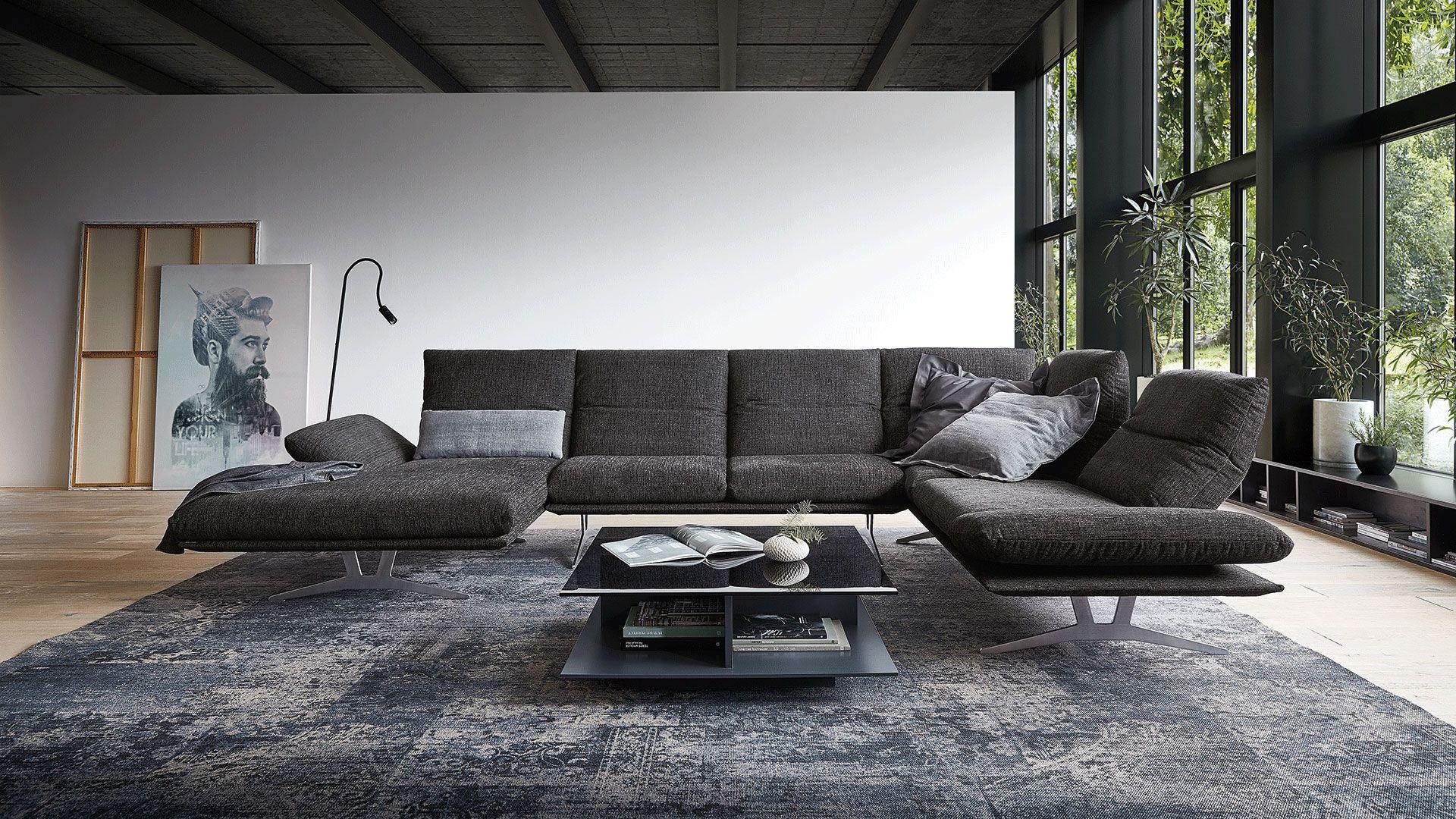 Francis In 2020 | Koinor Sofa, Wohnen, Sofa Design à Canape Cuir En U