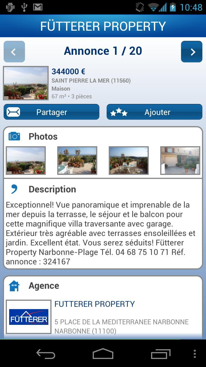 Fütterer Property For Android - Apk Download à Agence De La Terrasse