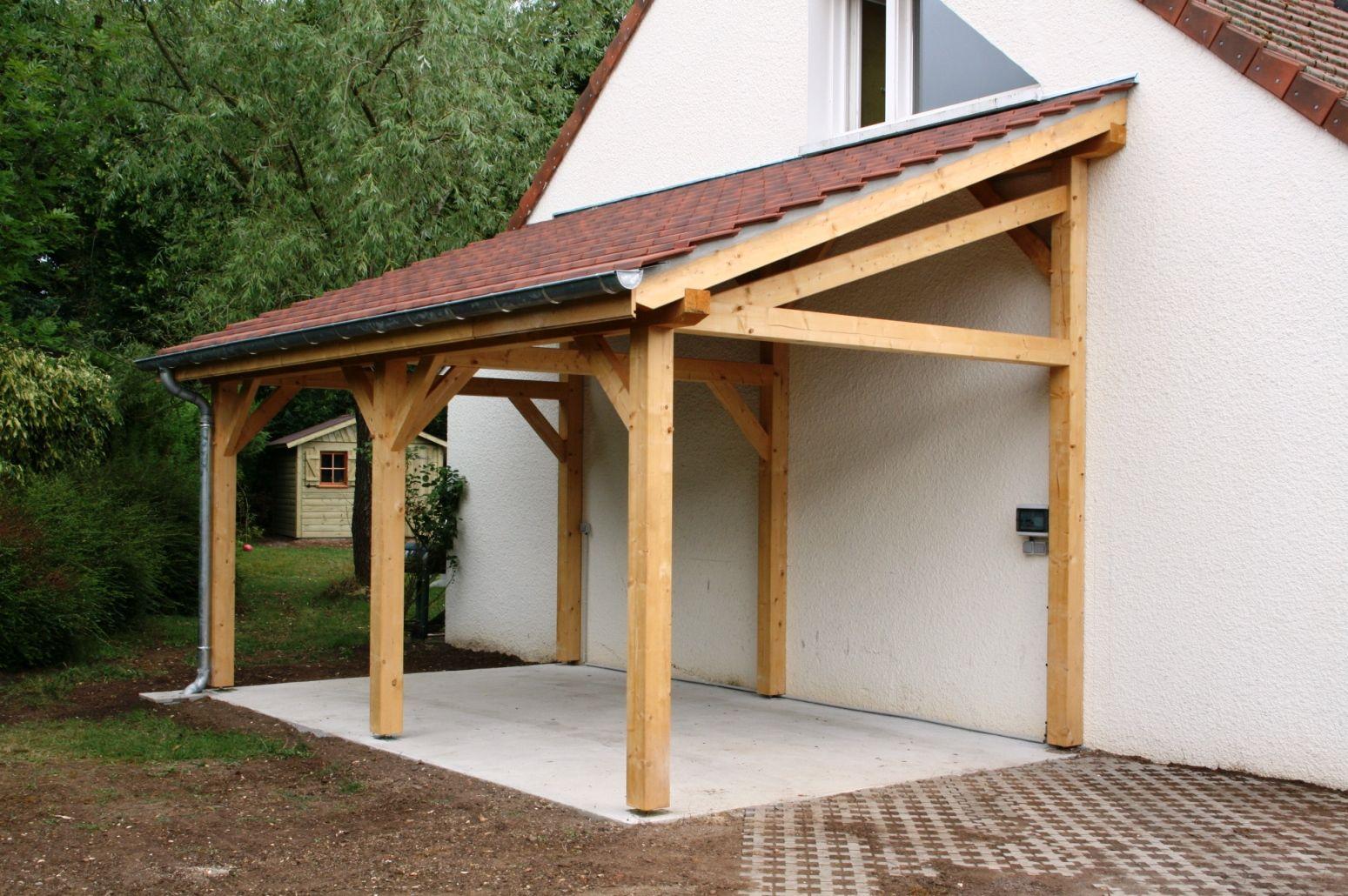 Garage 1 Pente 2.70Mx7.00M - Cerisier : Abris De Jardin En ... dedans Abri De Terrasse En Bois
