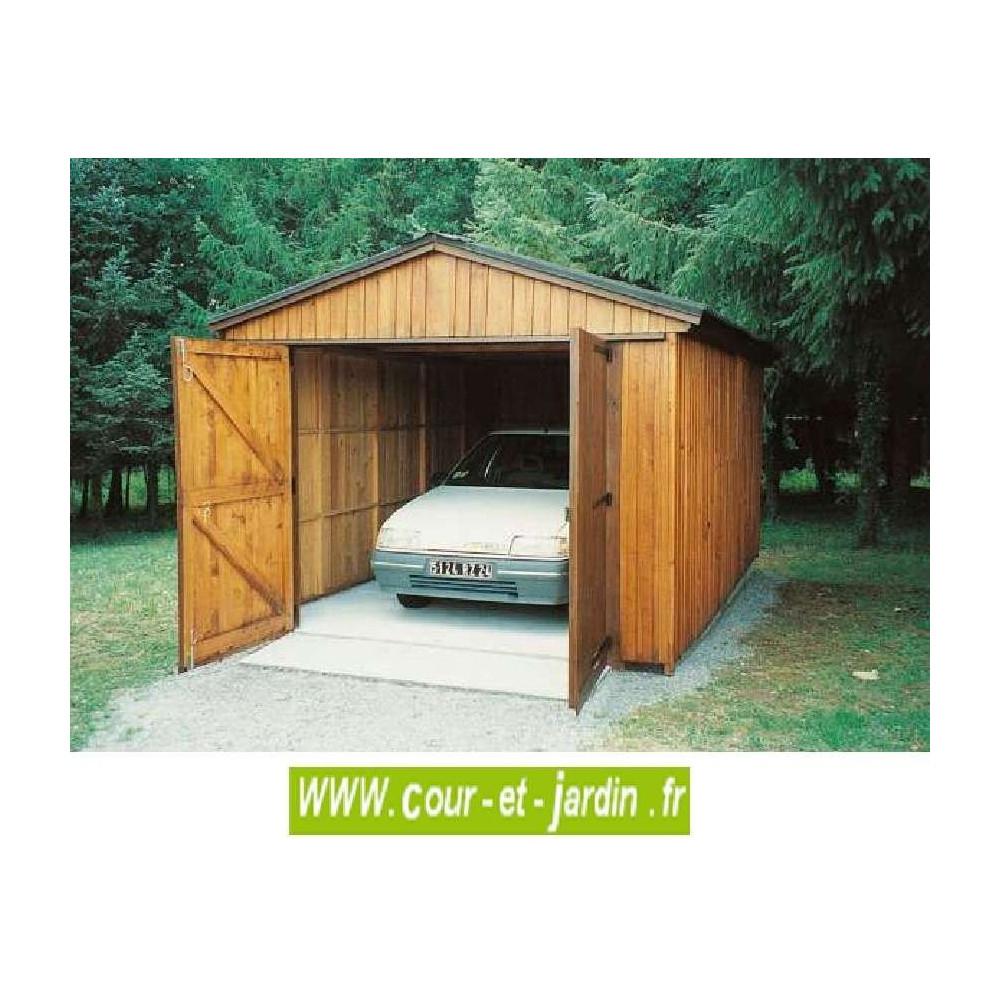 Garage Bois 19M² - Hauteur 270 Cm-Garages Et Abris Auto Bois ... intérieur Abri De Jardin 19M2