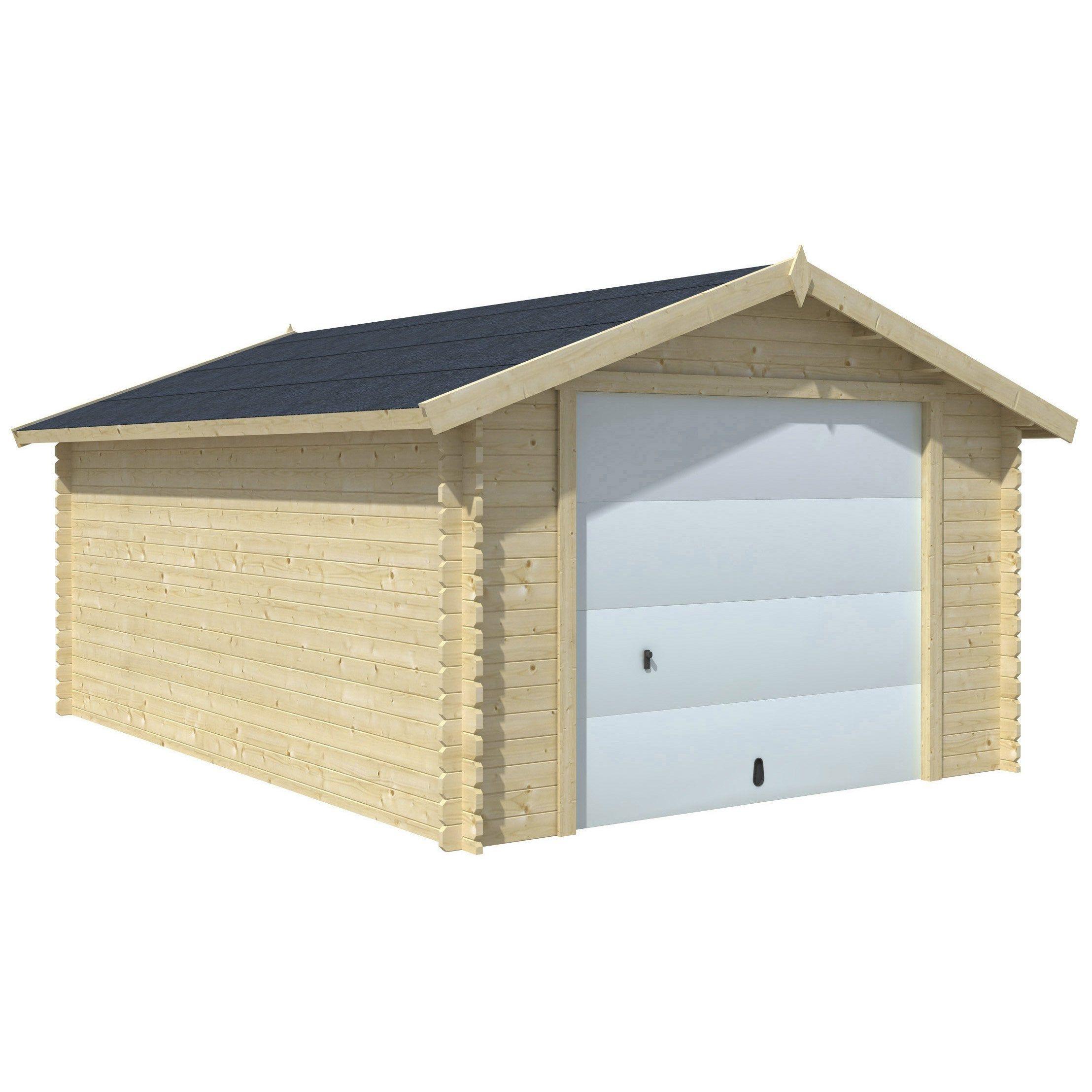 Garage Bois Nova 1 Voiture, 16.91 M² So Garden | Abri De ... tout Abri Moto Pas Cher