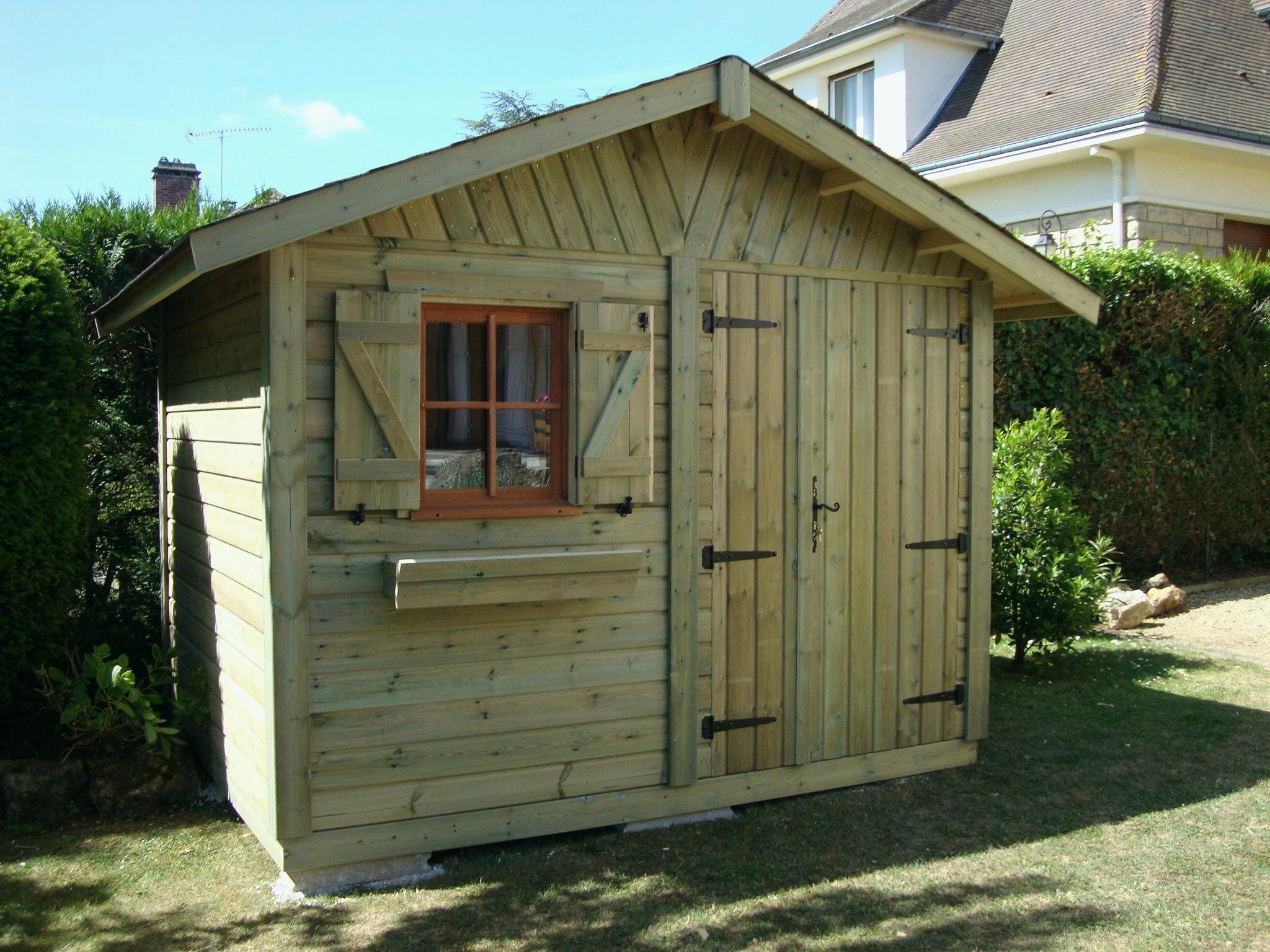 Garage: Garage De Jardin En Bois encequiconcerne Abri De Jardin 15M2