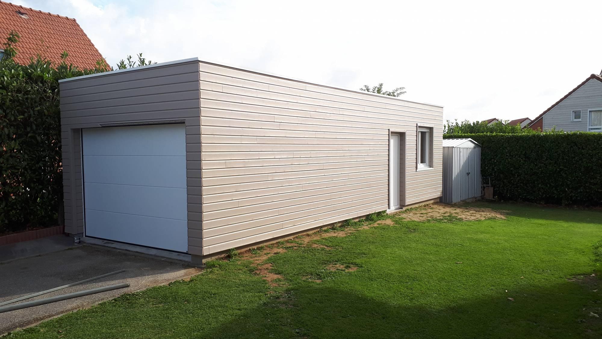 Garage Toit Plat - Roger Extension Bois pour Acrotere Toit Plat