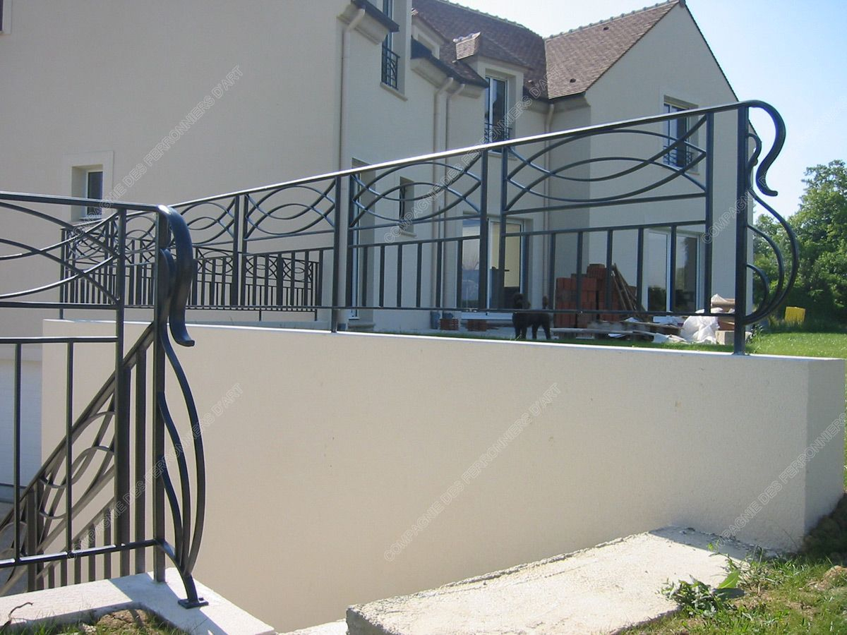 Garde-Corps En Fer Forgé Balcon Terrasse Modernes : Modèle ... destiné Garde Corps Terrasse