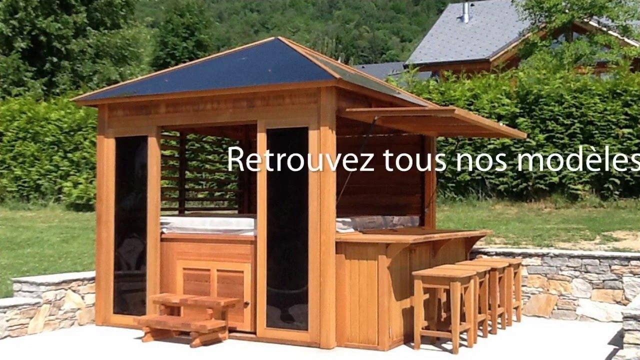 Gazébos : Des Abris Pour Spas En Extérieur serapportantà Abri Bois Exterieur