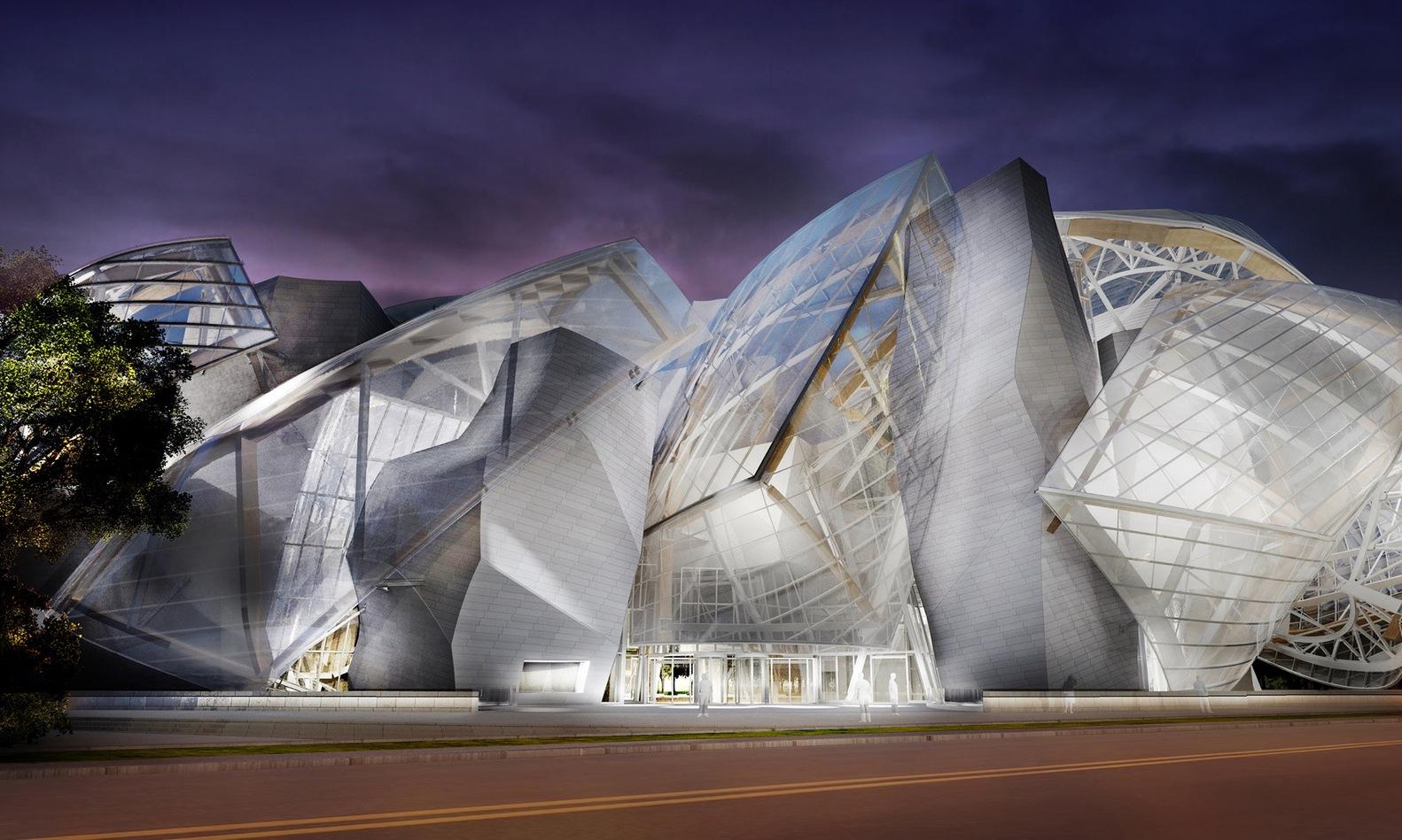 Göz Alıcı Bir Tasarım: Louis Vuitton Vakfı – Milliyet Emlak ... dedans Verriere Jardin