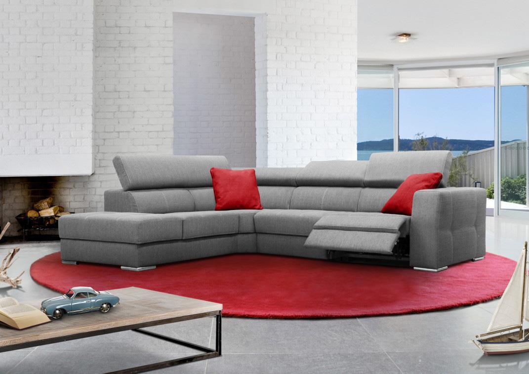 Grand Canapé D'angle Avec 1 Relax Électrique destiné Achat Canape D Angle