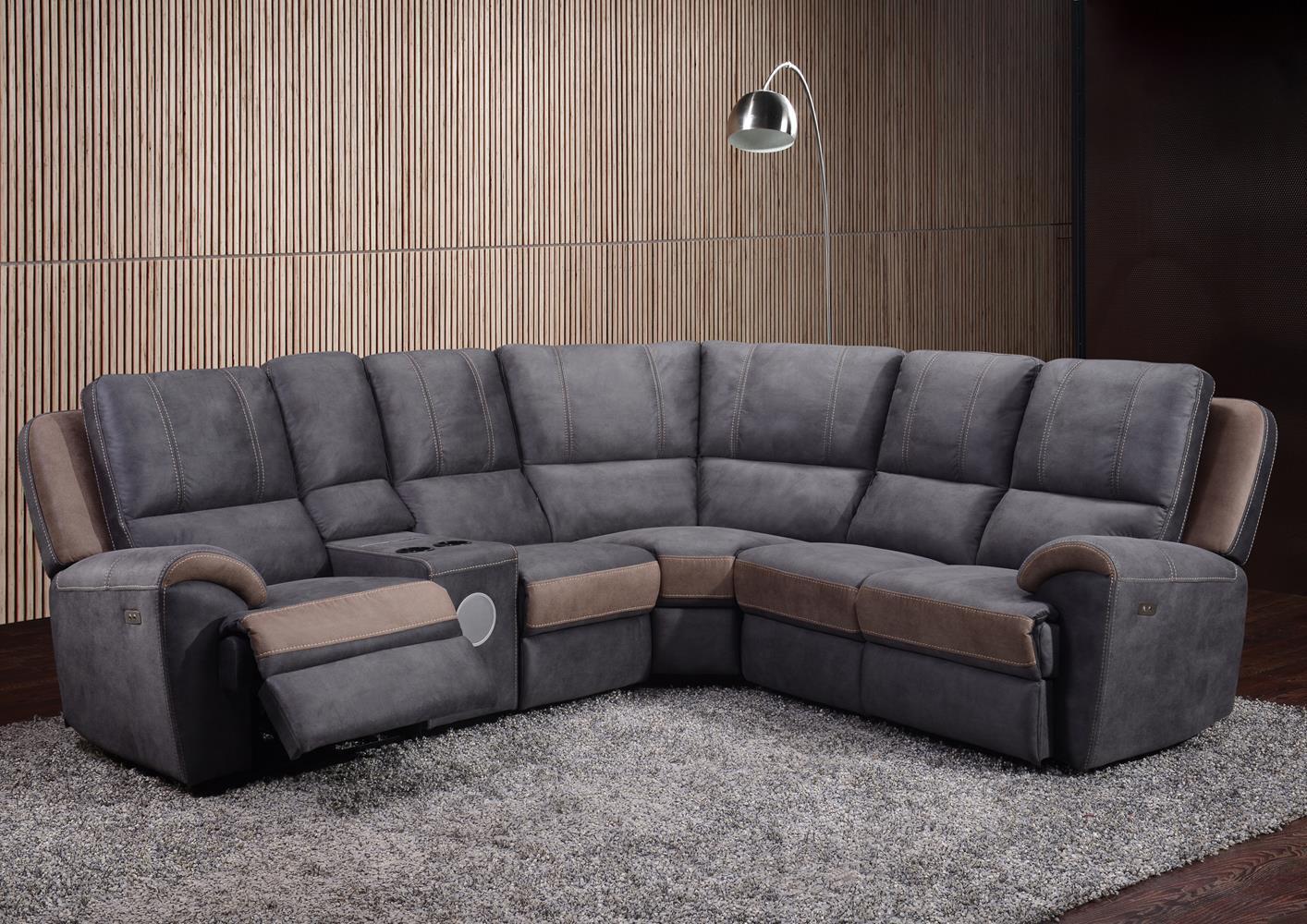 Grand Canapé D'angle Avec Relax En Microfibre concernant Acheter Canape D Angle