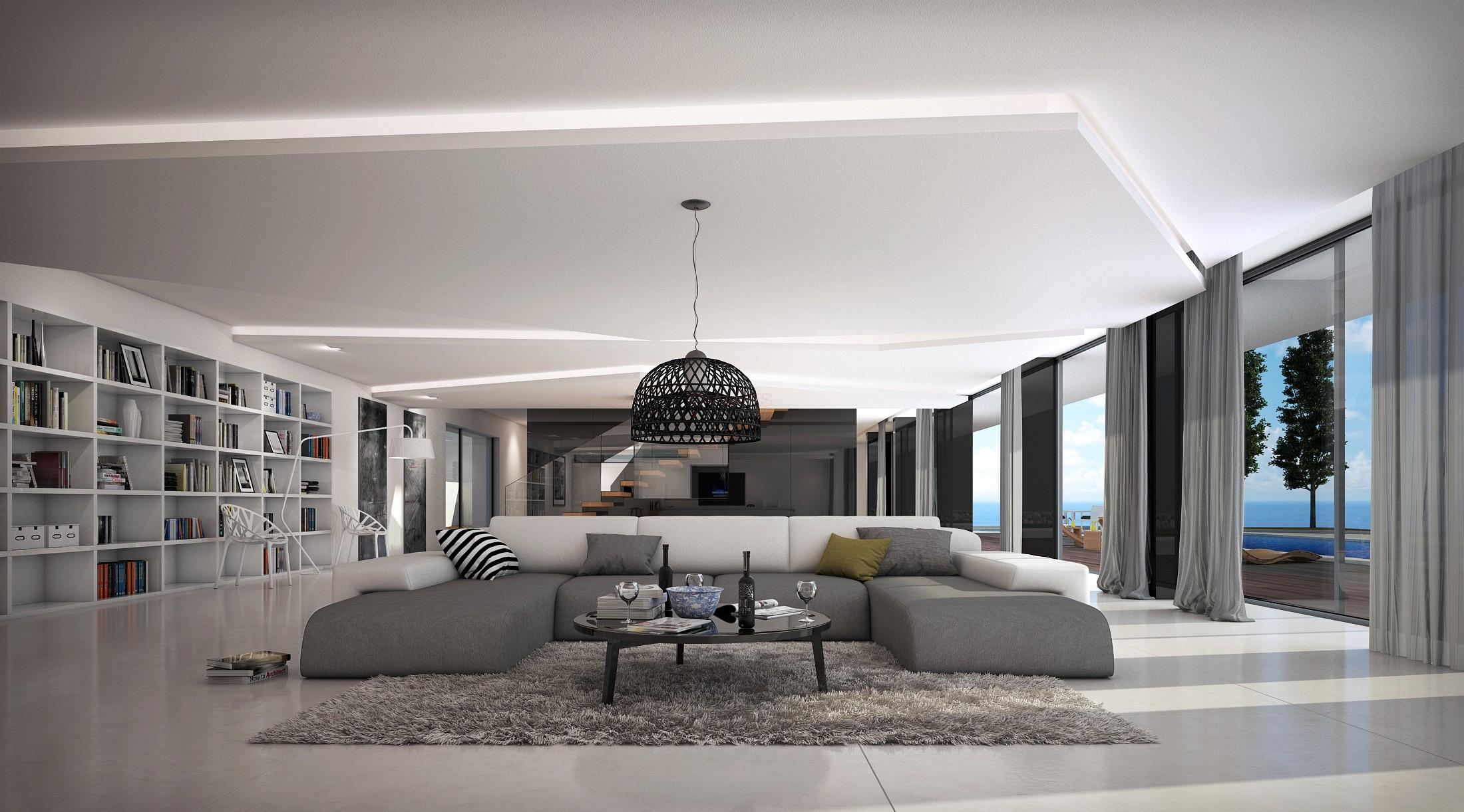 Grand Canapé D'angle Design Bapa Large, 1 689,00 € pour Grand Canape Panoramique