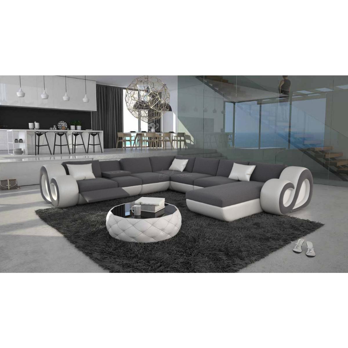 Grand Canapé D'angle En U Led Nesta Xl, 2 299,00 € destiné Grand Canape Panoramique