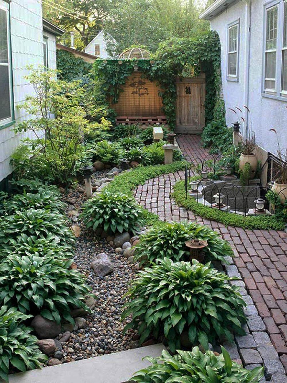 Grande Cour Avant De L'aménagement Paysager D'idées Peut ... à Petit Jardin Paysager
