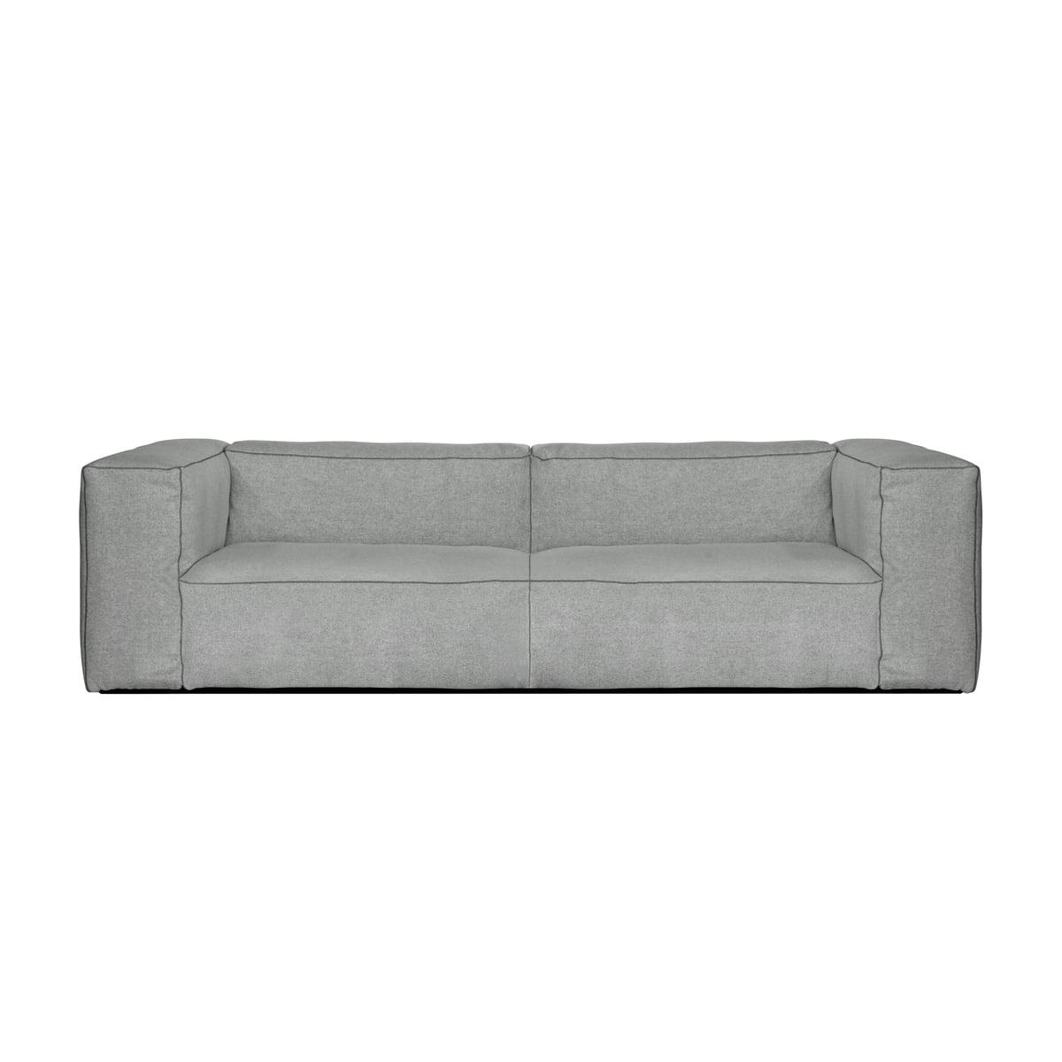Hay - Mags Soft Canapé 2,5 Places, Combinaison 1, Gris Clair (Hallingdal  130) / Coutures : Gris Foncé destiné Canape 5 Places