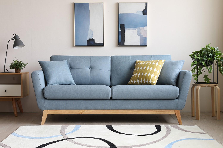 Höga Bleu Pastel intérieur Petit Canape Scandinave