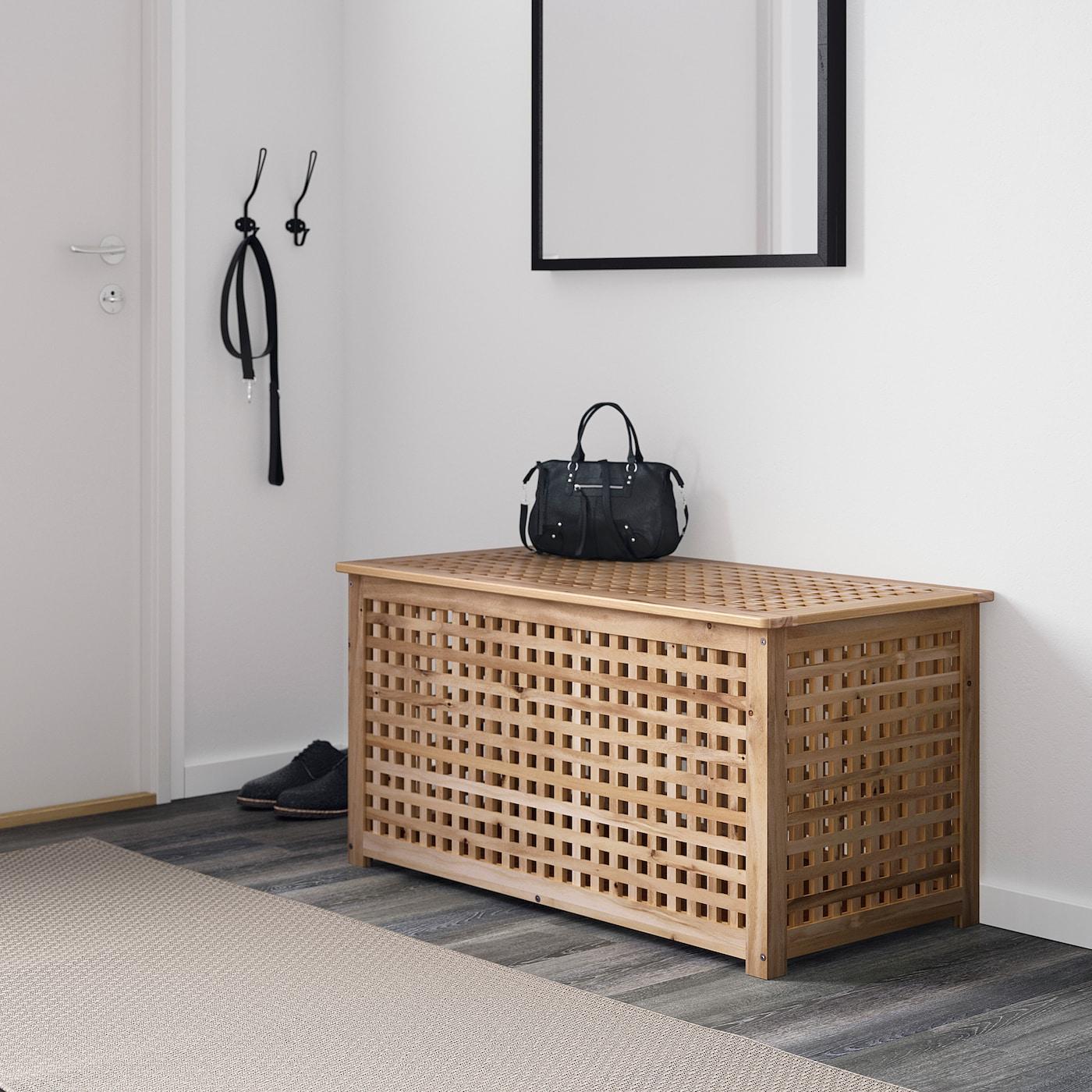 Hol Table De Rangement - Acacia 98X50 Cm intérieur Banc De Jardin Ikea