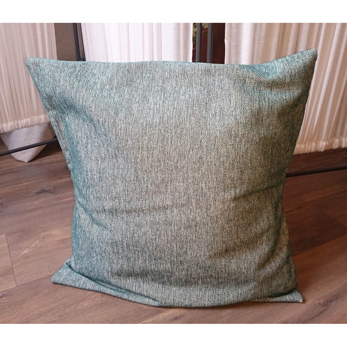 Housse De Coussin Bleu-Vert tout Coussin Bleu Vert