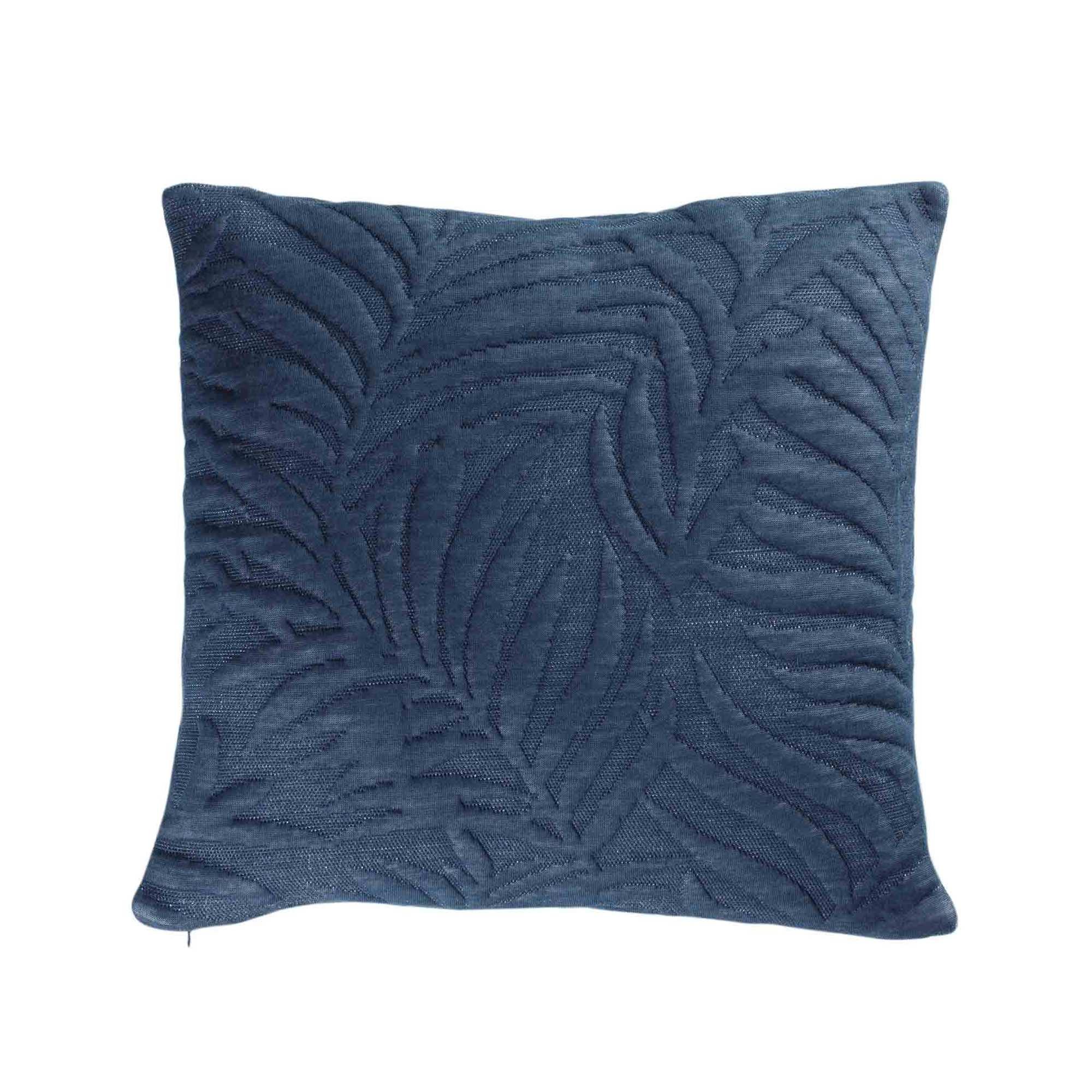 Housse De Coussin 'feuillage' Relief destiné Coussin Bleu Turquoise